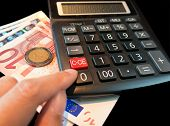euro and calculator