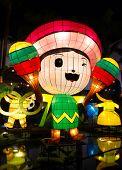 Chinese lantern cartoon with American theme