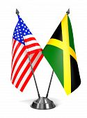 USA and Jamaica - Miniature Flags.