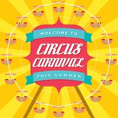 Circus Carnival Poster Template.