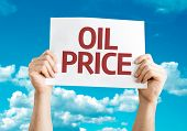 Oil Price card with sky background