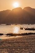 Vibrant Island Sunset