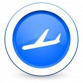 arrivals icon plane sign