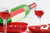 Two Wineglasses With Red Beverage