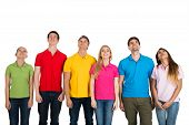 Multiethnic Group Of People Looking Up