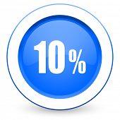 10 percent icon sale sign