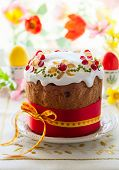 Traditional Easter cake with the candied fruits