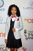 LOS ANGELES - FEB 6:  Yara Shahidi at the 46th NAACP Image Awards Arrivals at a Pasadena Convention Center on February 6, 2015 in Pasadena, CA