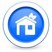 house icon ecological home symbol