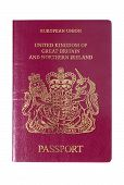 foto of passport cover  - Front cover of a UK European Union Passport - JPG