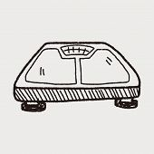 picture of child obesity  - Weight Scale Doodle - JPG