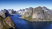 picture of reining  - View of the bay near the village of Reine - JPG
