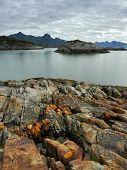 foto of lofoten  - Wild west coast of the Lofoten Islands in Norway - JPG