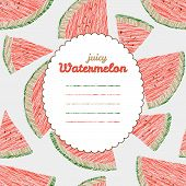 stock photo of watermelon slices  - Text frame - JPG