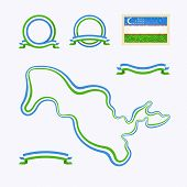 stock photo of nationalism  - Outline map of Uzbekistan - JPG