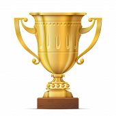 pic of award-winning  - Sport award on wooden stand - JPG