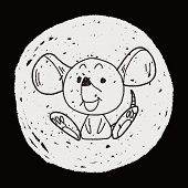 stock photo of mouse trap  - Chinese Zodiac Mouse Doodle Drawing - JPG