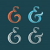 pic of ampersand  - Collection of delicate custom ampersands for wedding invitation - JPG