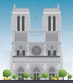 stock photo of notre dame  - Notre Dame Cathedral  - JPG
