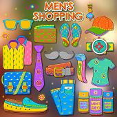 picture of deo  - illustration of shopping concept in Indian kitsch style - JPG