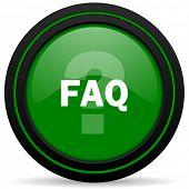 image of faq  - faq green icon  - JPG