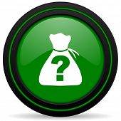 stock photo of riddles  - riddle green icon 