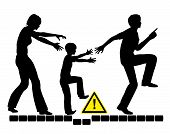 pic of safeguard  - Concept sign of overprotective and anxious parents trying to safeguard her child - JPG