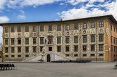 stock photo of knights  - Palazzo della Carovana is a palace in Knights Square Pisa Italy - JPG