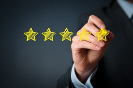 stock photo of status  - Increase rating evaluation and classification concept - JPG