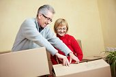 Senior Couple Preparing For Moving