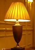 classic table lamp at hotel
