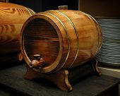 elegant wood barrel