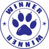 Stamp With Paw And Inscription - Winner