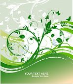 Vector illustration. Green spring background