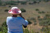 Senior Lady On Safari