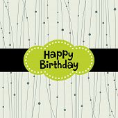 image of happy birthday  - vector background design - JPG