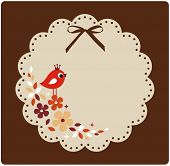 vector birds xmas card