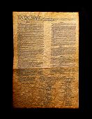 A photo of the US Constitution