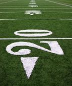 A photo of a football field