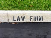 A parking sot for law firm clients only
