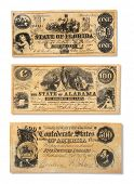 Old money bank notes from the United States