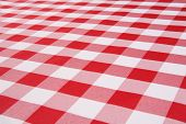 A traditional plaid picnic tablecloth fabric