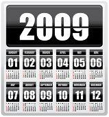 Calendar 2009 - 12 months (editable text)