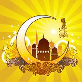 Vibrant Islamic pattern for Muslim celebration.