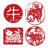 Chinese New Year seals - Cow