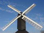 Windmühle schwarz & weiß