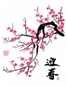 foto of chinese calligraphy  - Plum Blossom - JPG