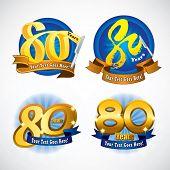 80 years masthead design