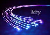 stock photo of traffic signal  - Optical Fibers - JPG