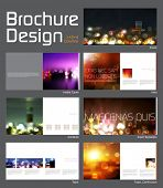 Brochure Layout Design Template with 14 pages (7 spreads) Preview.